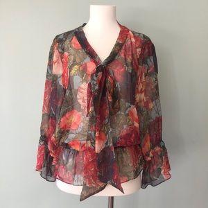 👚 Haute Hippie floral silk blouse